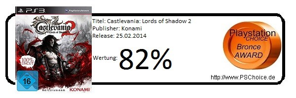 Castlevania Lords of Shadow 2- Die Wertung von Playstation Choice