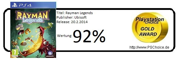 Rayman Legends PS4 - Die Wertung von Playstation Choice