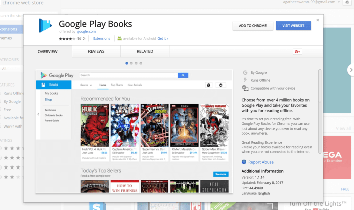 Google Play Books for PC