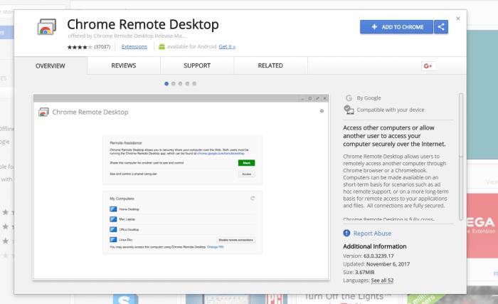 Chrome Remote Desktop for PC