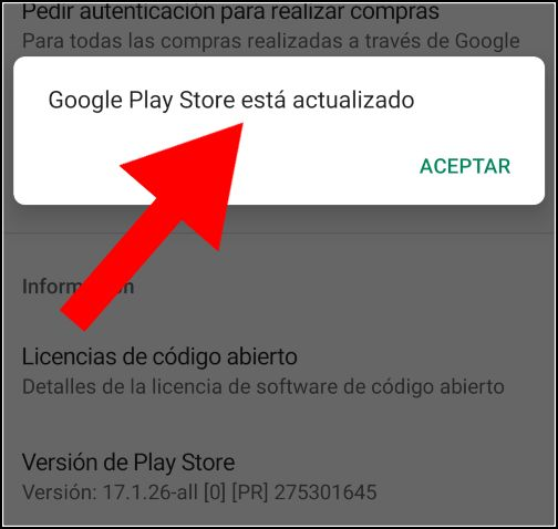 Play Store actualizada