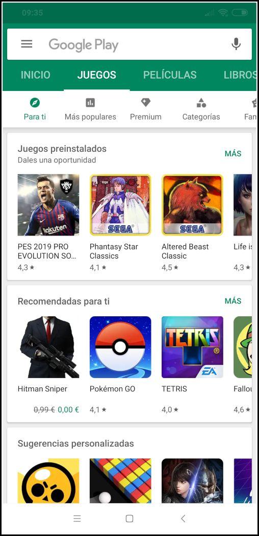 Descargar juegos de Play Store