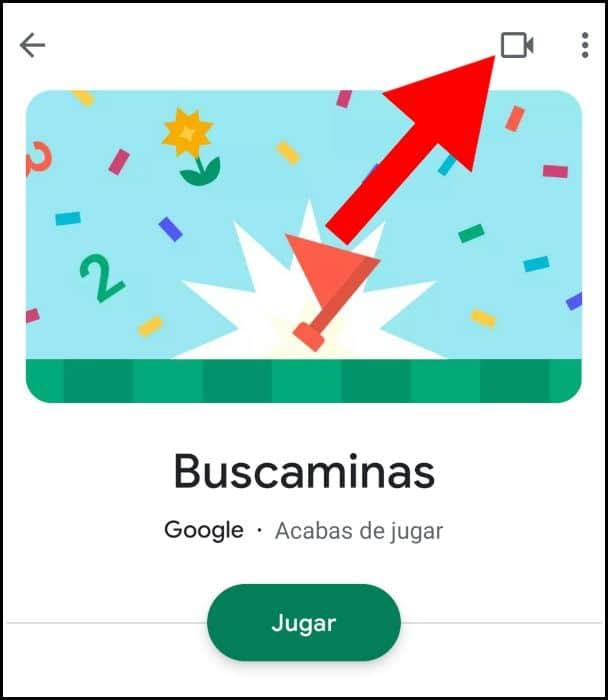 Grabar vídeo en Android Play Juegos