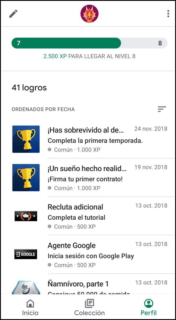 logros Google Play Juegos