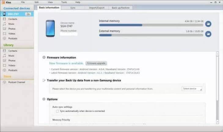 Samsung Kies for PC