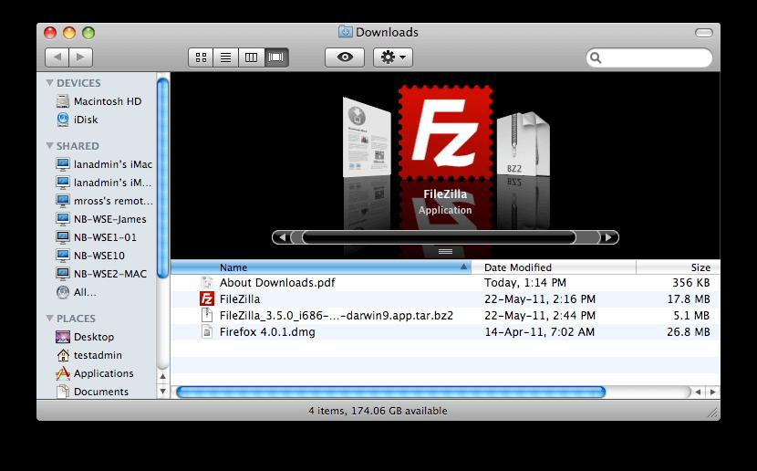 FileZilla for Mac