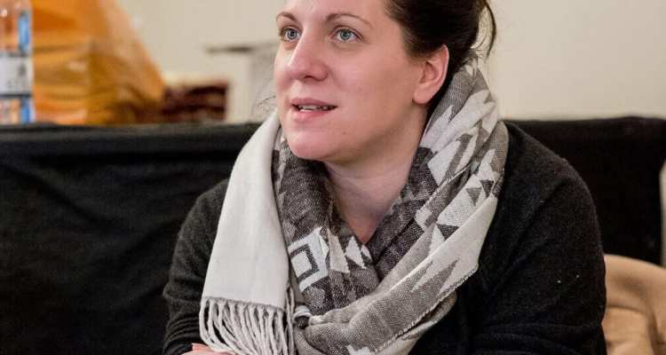 Clare Lizzimore (director) in  rehearsal for Bull. Photo by Manuel Harlan (2)