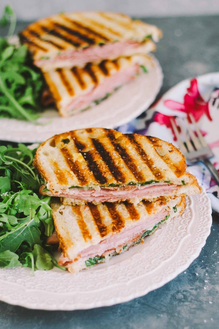 croque monsieur paninis are an easy & delicious lunch or brunch meal. a seriously simple, yet seriously elegant way to use up easter ham leftovers or to entertain a couple of girlfriends for a casual weekend lunch (just don't forget the rosé!) | croque monsieur, sandwich, french recipe, girls night, easy recipe, easter, easy entertaining |