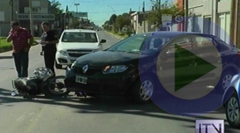 Otro accidente en calle Iriondo