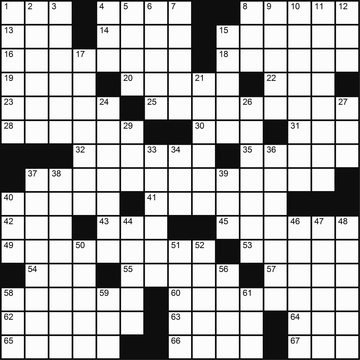 Game-Changing: A Crossword
