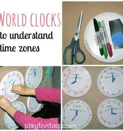 Teaching time zones in simple way - PLAYTIVITIES [ 1024 x 1024 Pixel ]