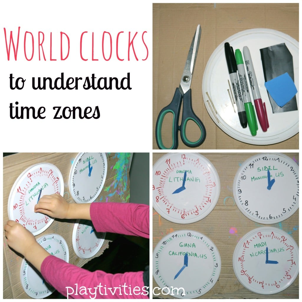 hight resolution of Teaching time zones in simple way - PLAYTIVITIES