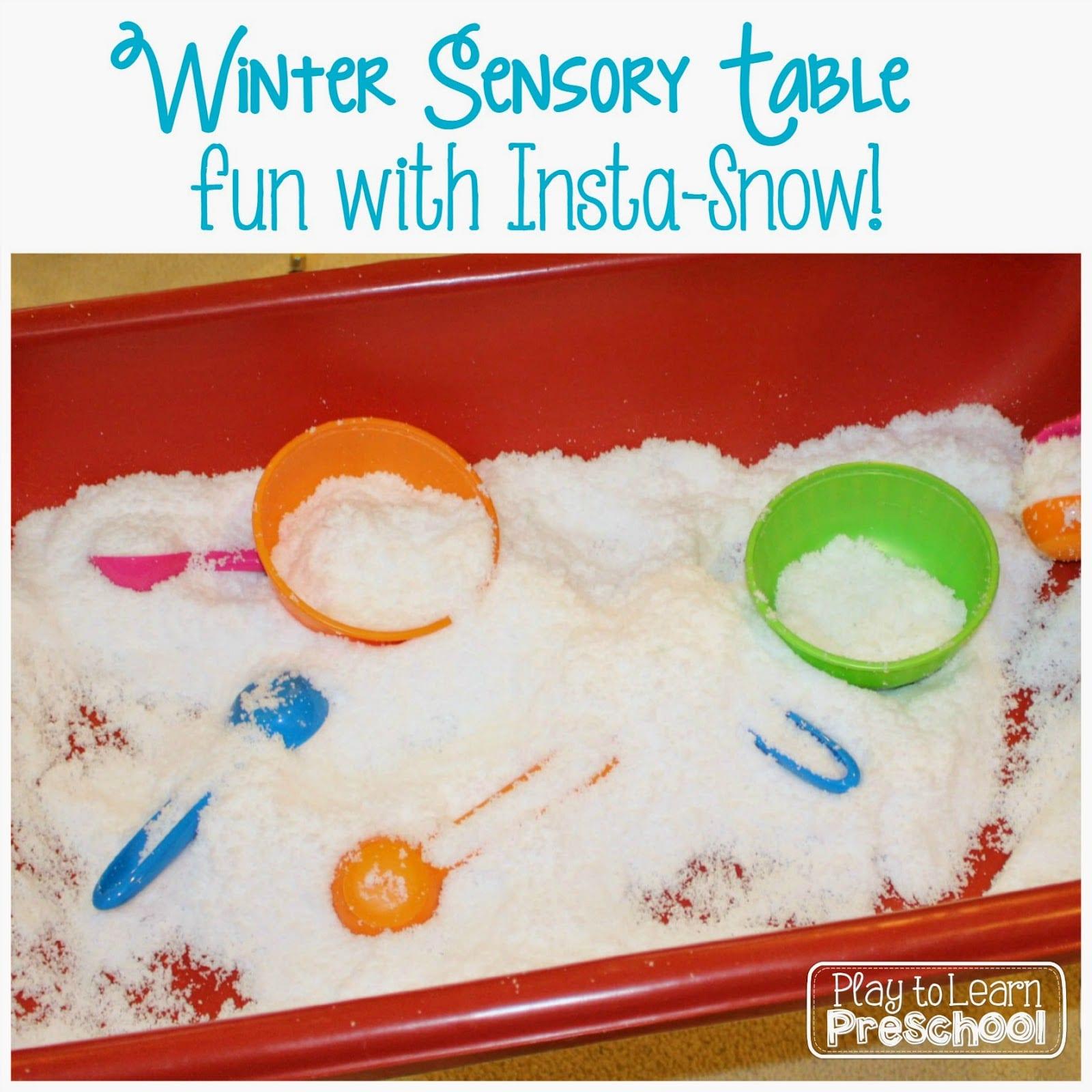 Insta Snow Sensory Table