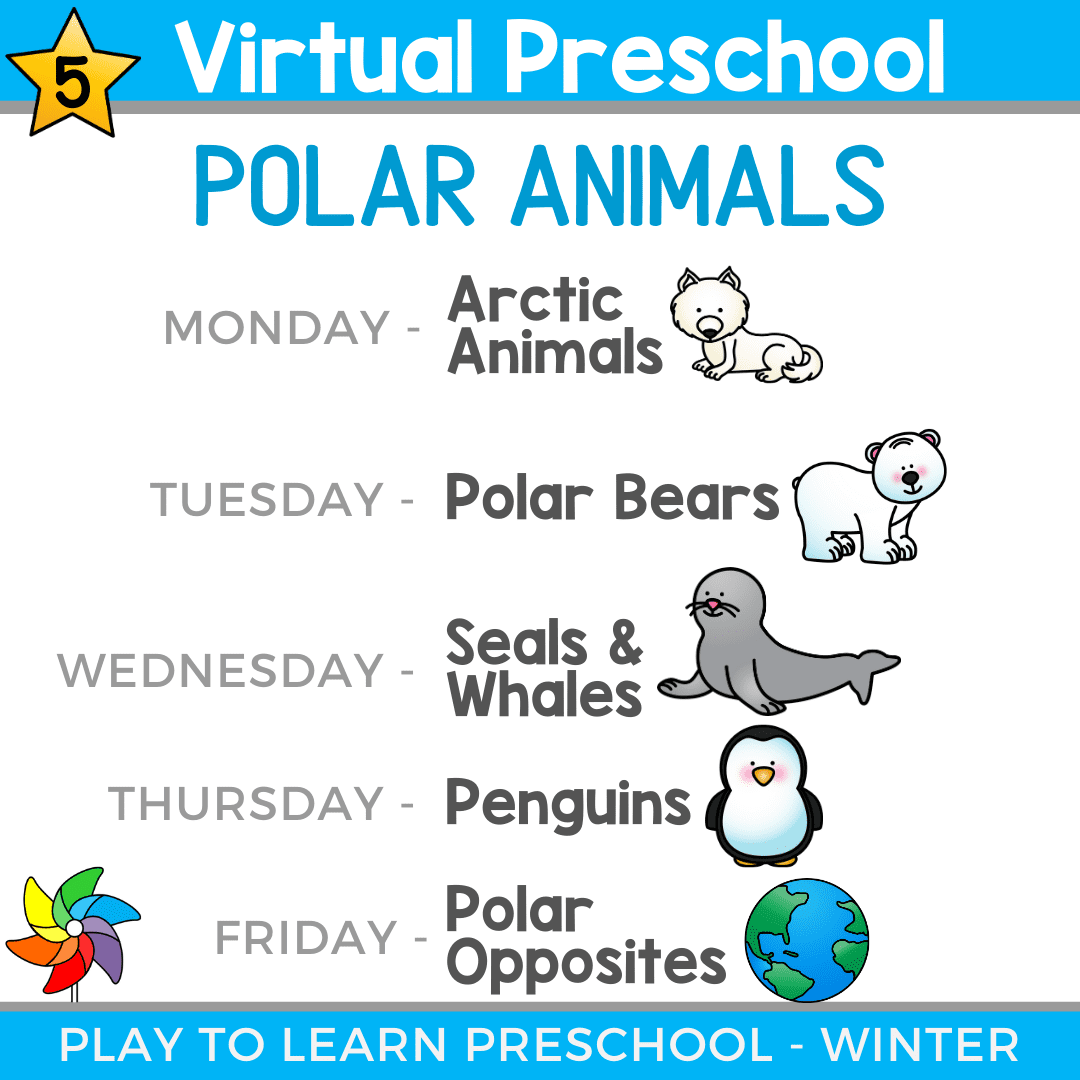 Polar Animals Unit Virtual Preschool