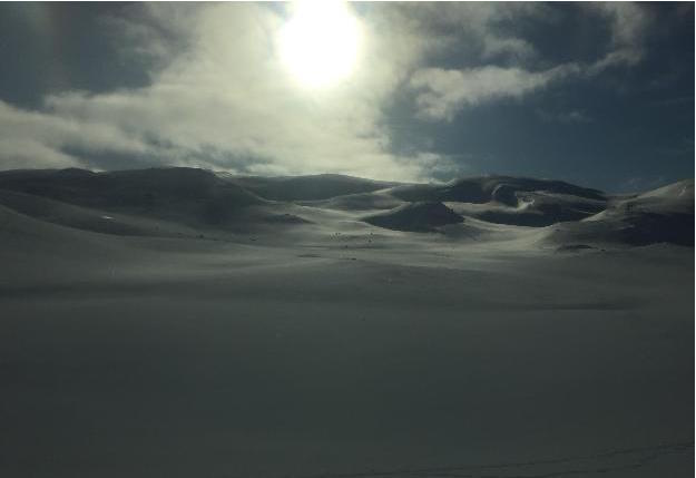 View from the train window on journey back to Oslo from Bergen