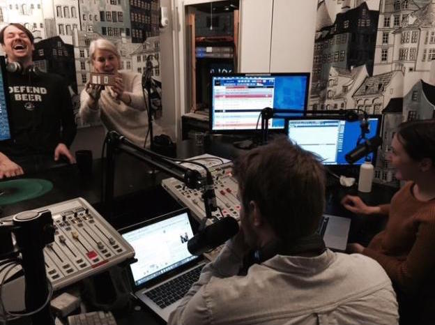 Ruth getting a much-needed lesson in Snapchatting from the Basso Radio hosts and Rich.