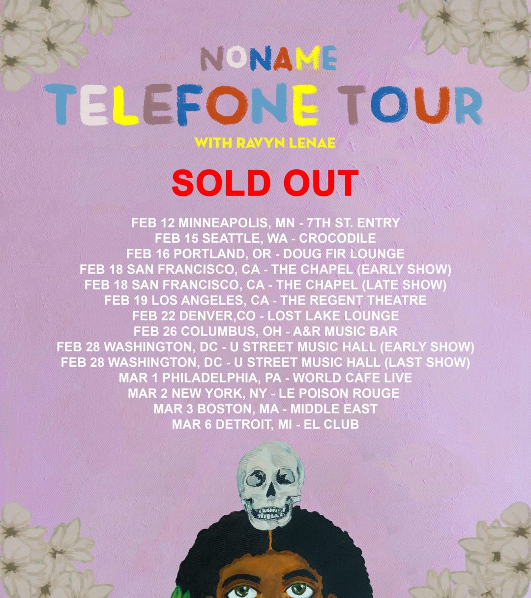 Noname Telefone tour sold out