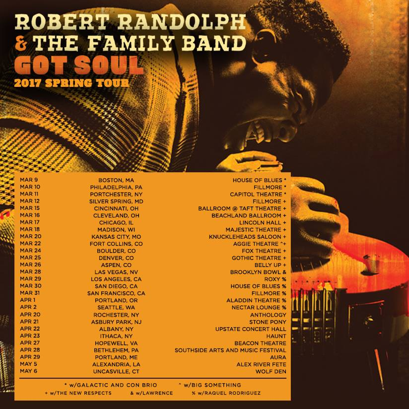 Robert Randolph Got Soul tour