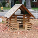 Wood playground wooden playhouse with floor