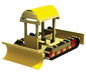 Wood playground snow dozer