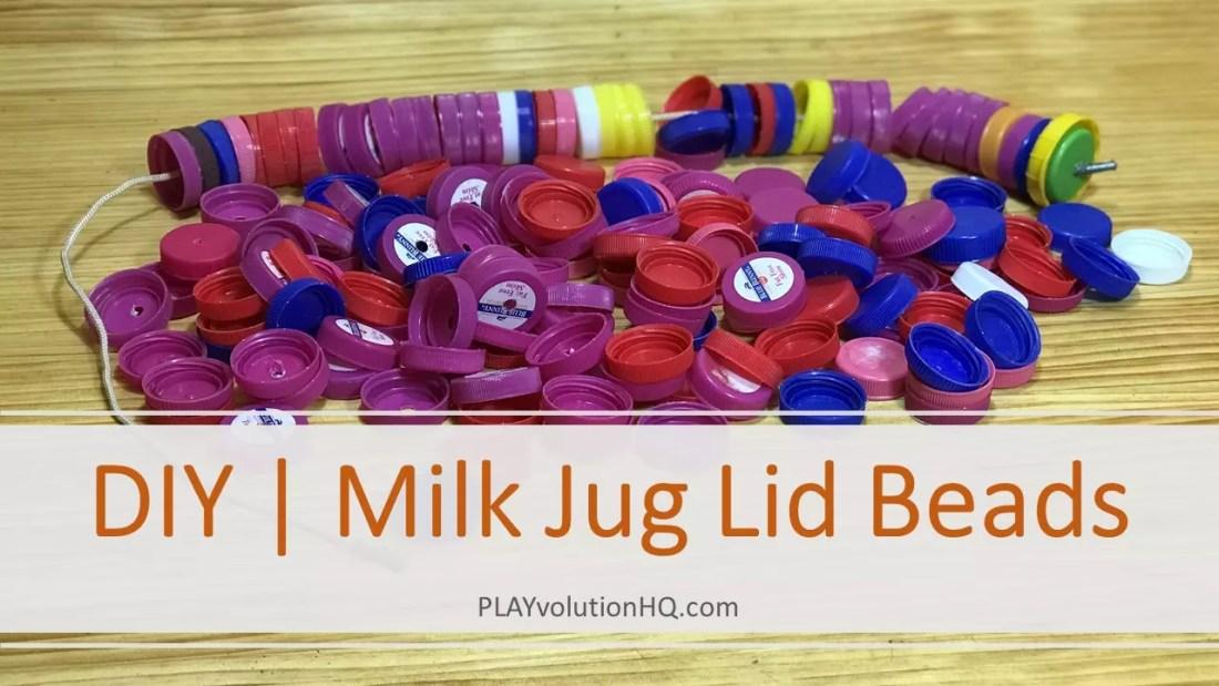 Milk Jug Lid Beads
