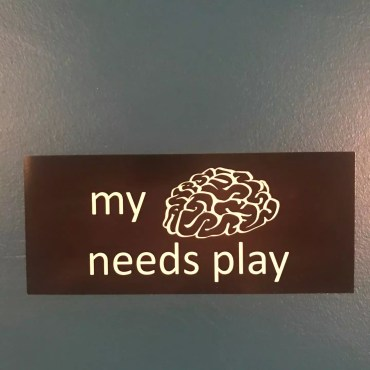 My Brain Needs Play StickerAC
