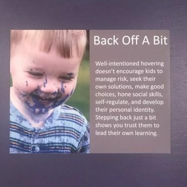 Back Off A Bit Poster