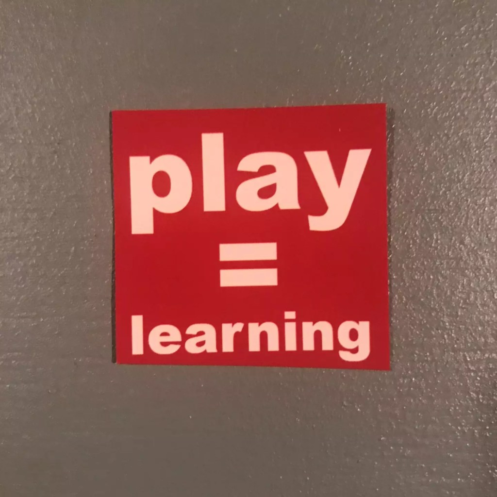 Play Equals Learning Sticker