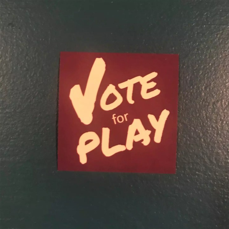 Vote For Play Sticker
