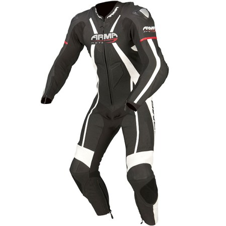Armr Moto Harada R Leather Motorcycle Suit Black