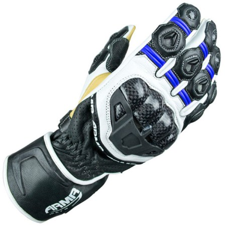 Armr Moto S470 Motorcycle Gloves Black/Blue