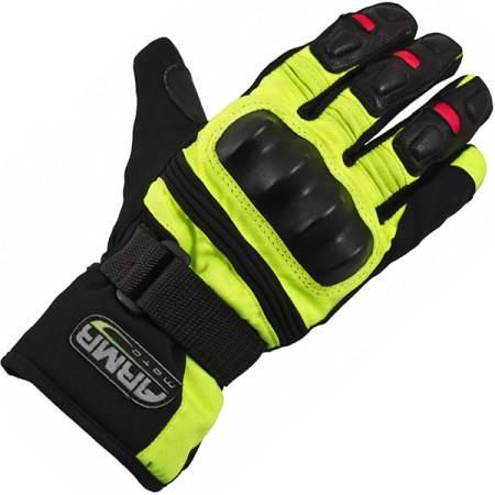 Armr Moto WP525 Motorcycle Gloves Yellow