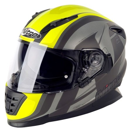 Nitro NRS-01 Pursuit Motorcycle Helmet Matt Gun