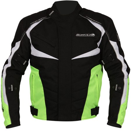 Buffalo Blitz Motorcycle Jacket Neon Yellow