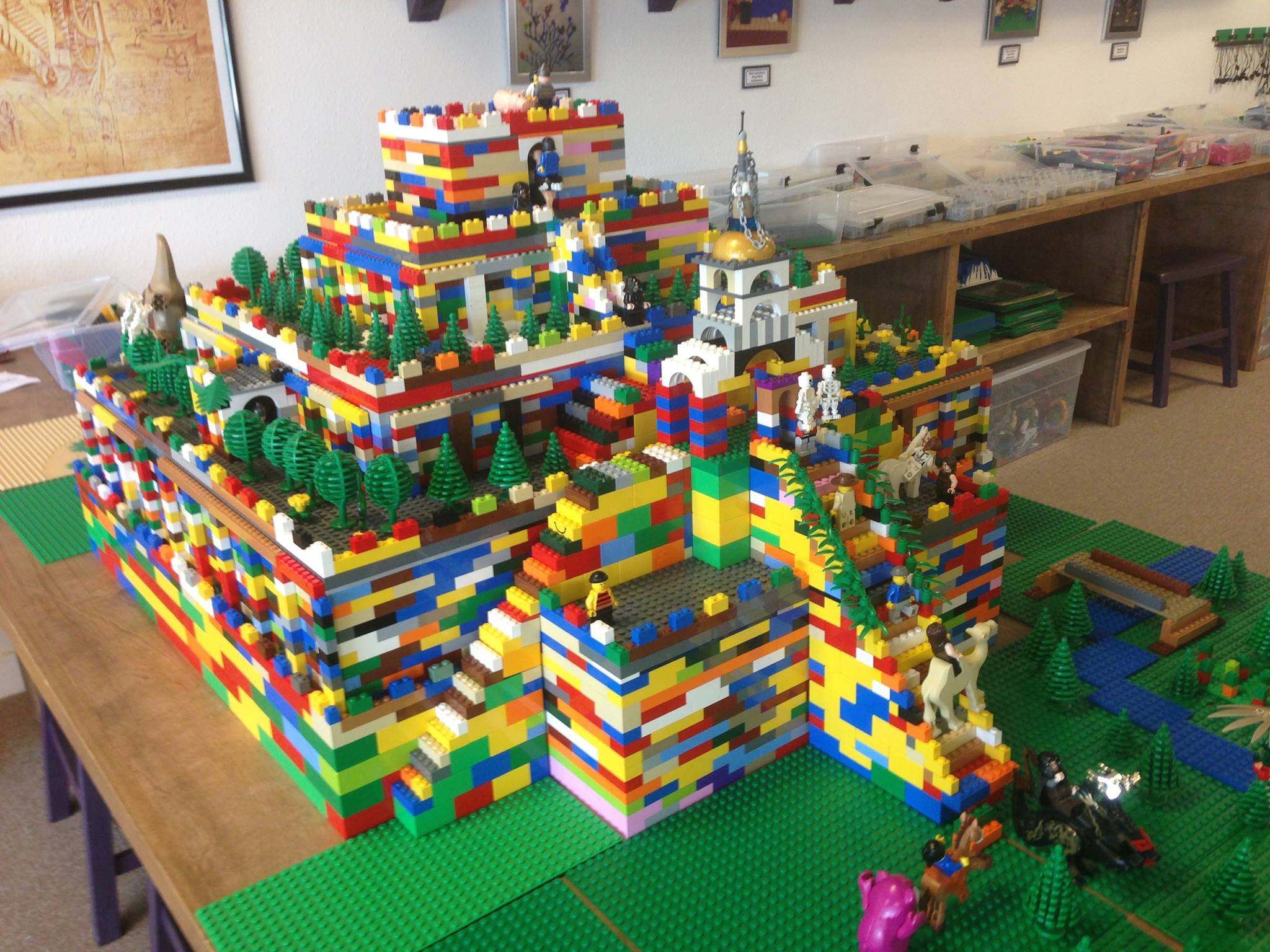 It Takes A Full Team Of Our Young Architects And Engineers To Create Sumerian Ziggurat This Size Out LEGO The Students Studied For