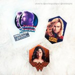 Captain America Captain Marvel Wonder Woman Stickers
