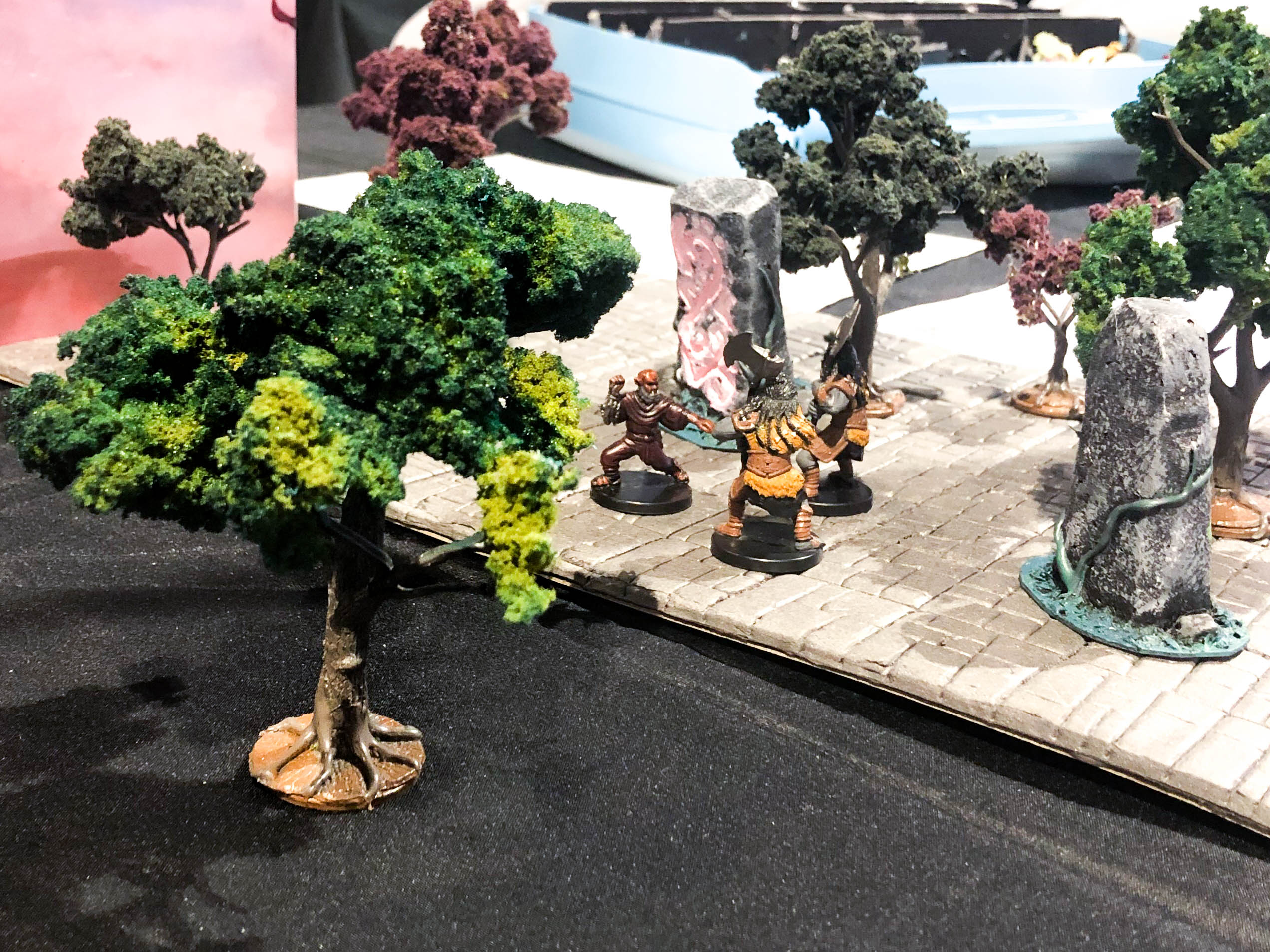 Dioramas used during the campaign