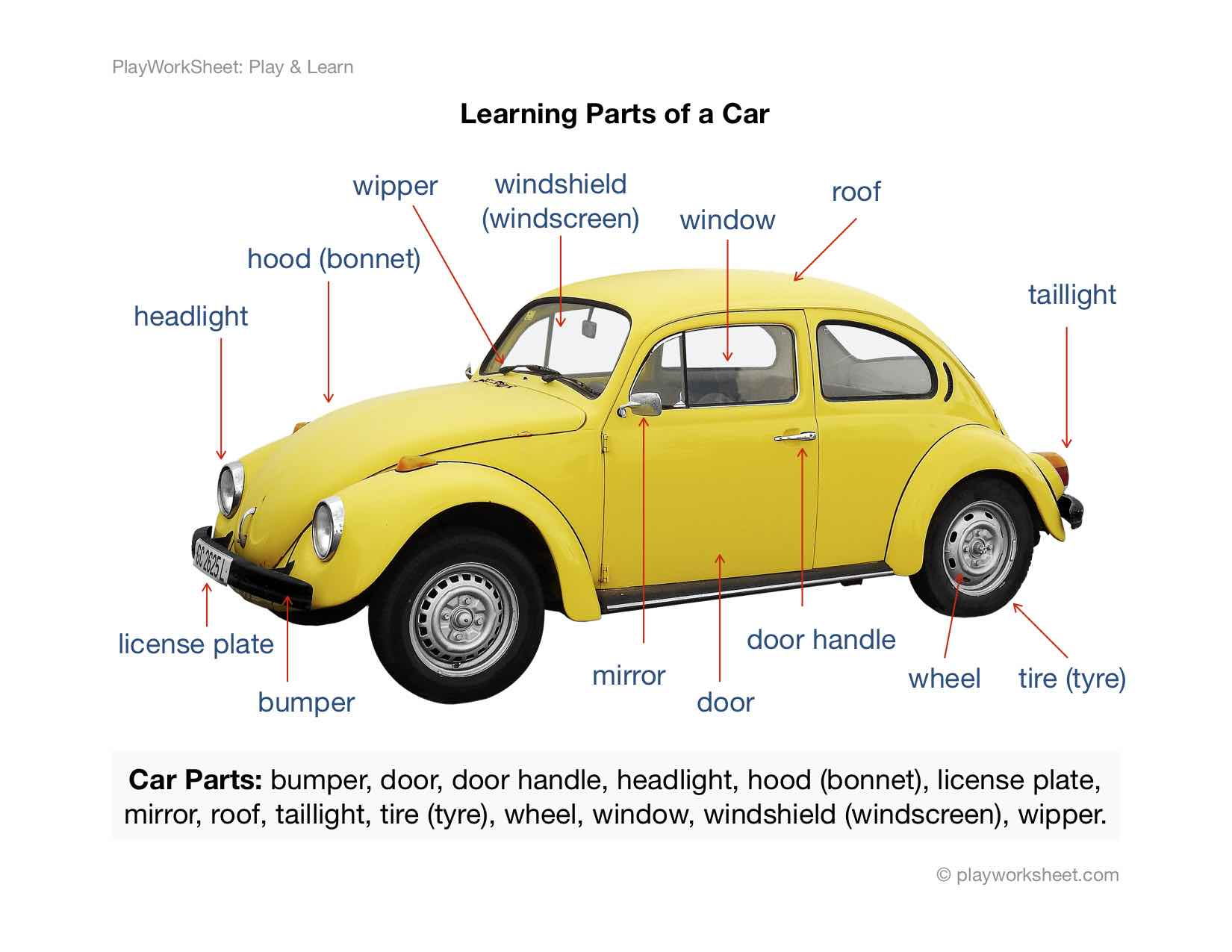 Learning Car Parts By Picture