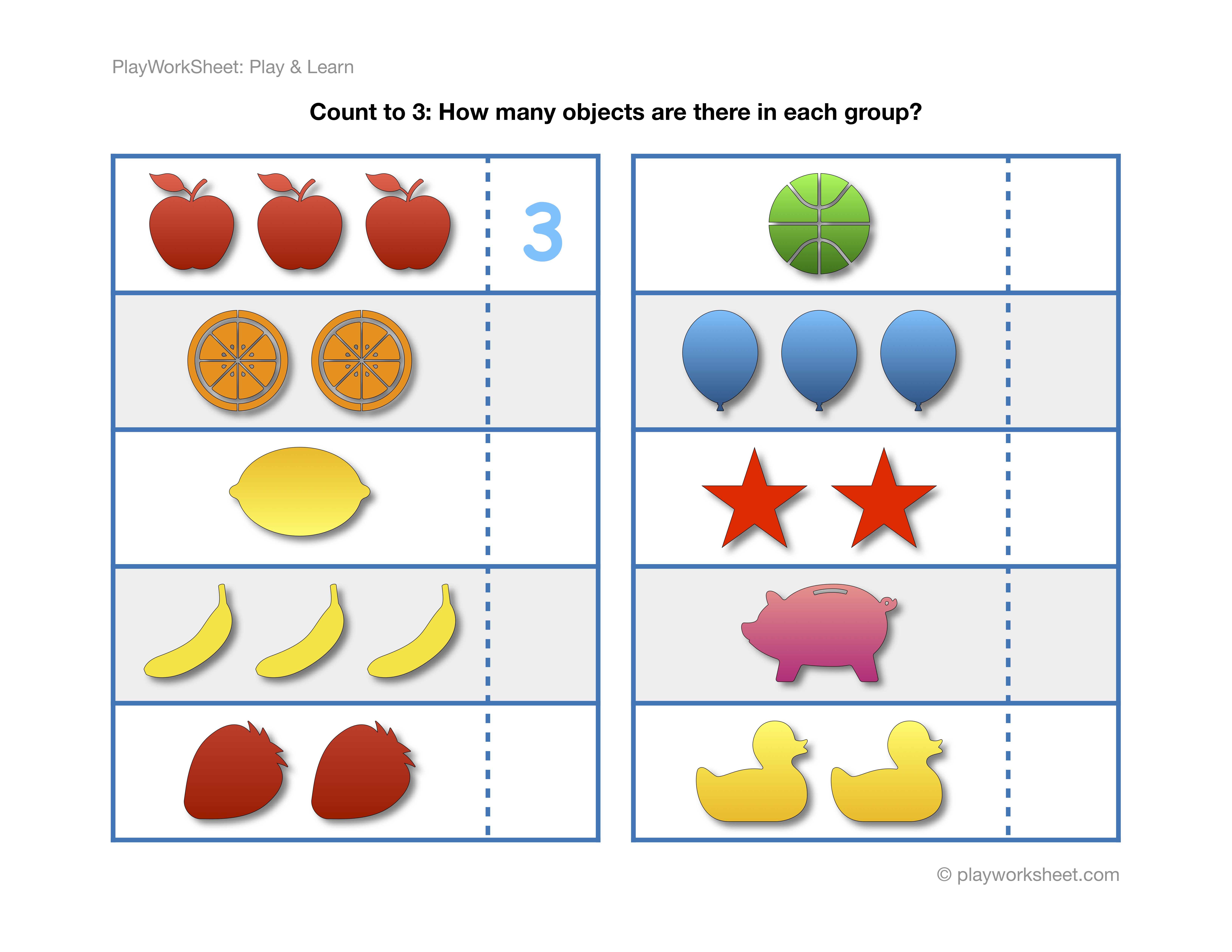 Exercises For Counting To Three