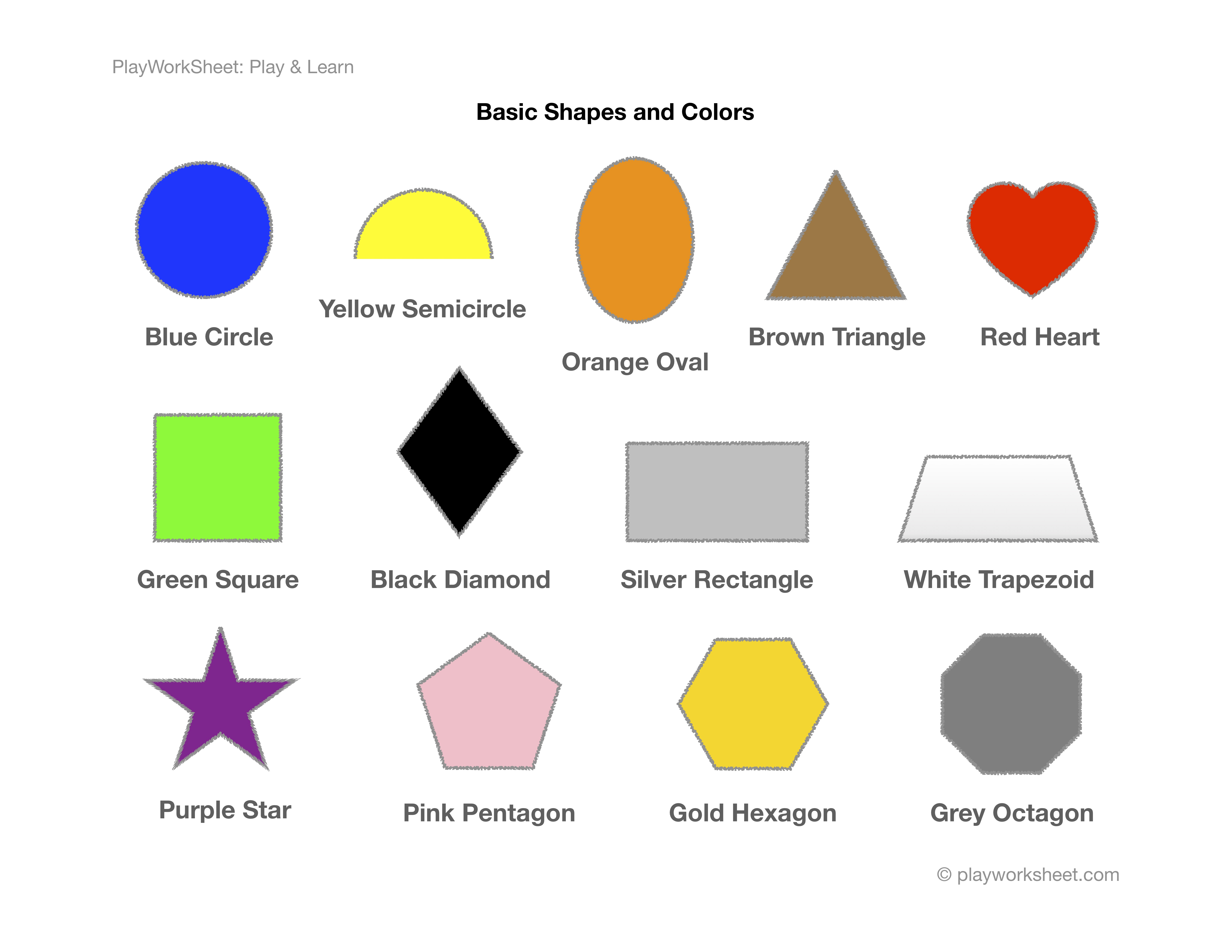 Basic Shapes And Colors