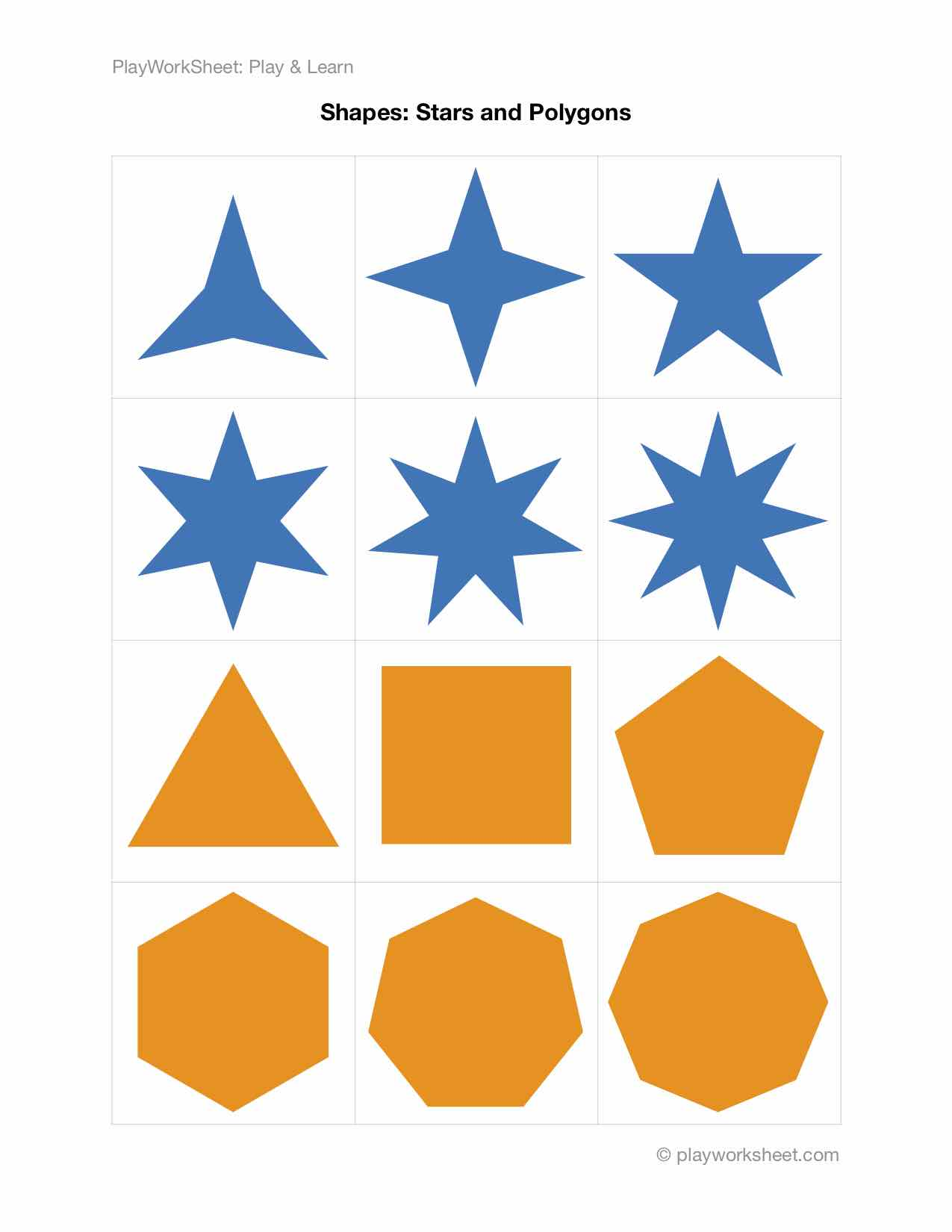 Stars And Polygons Shapes