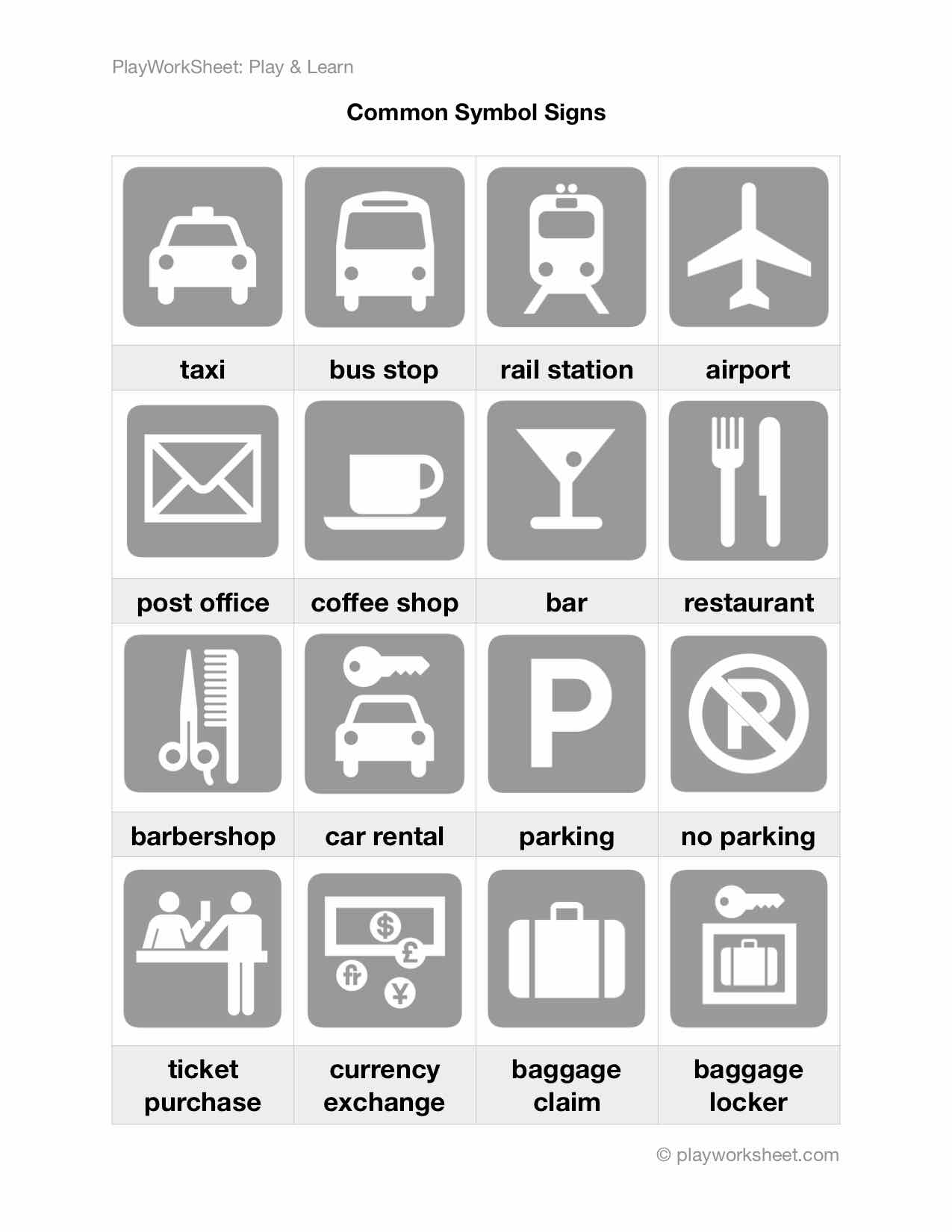 Common Symbol Signs