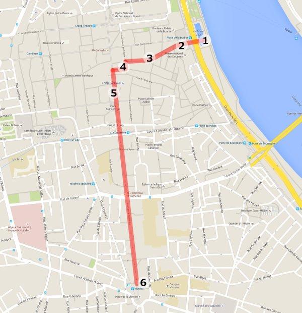 Bordeaux city center map b