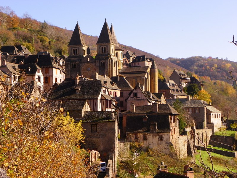 Conques, France - wide view