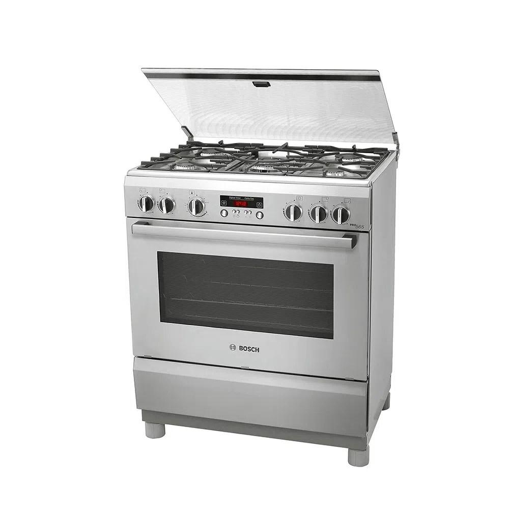 Cocina a Gas BOSCH 5 Quemadores PRO565 Plateado  PlazaVea