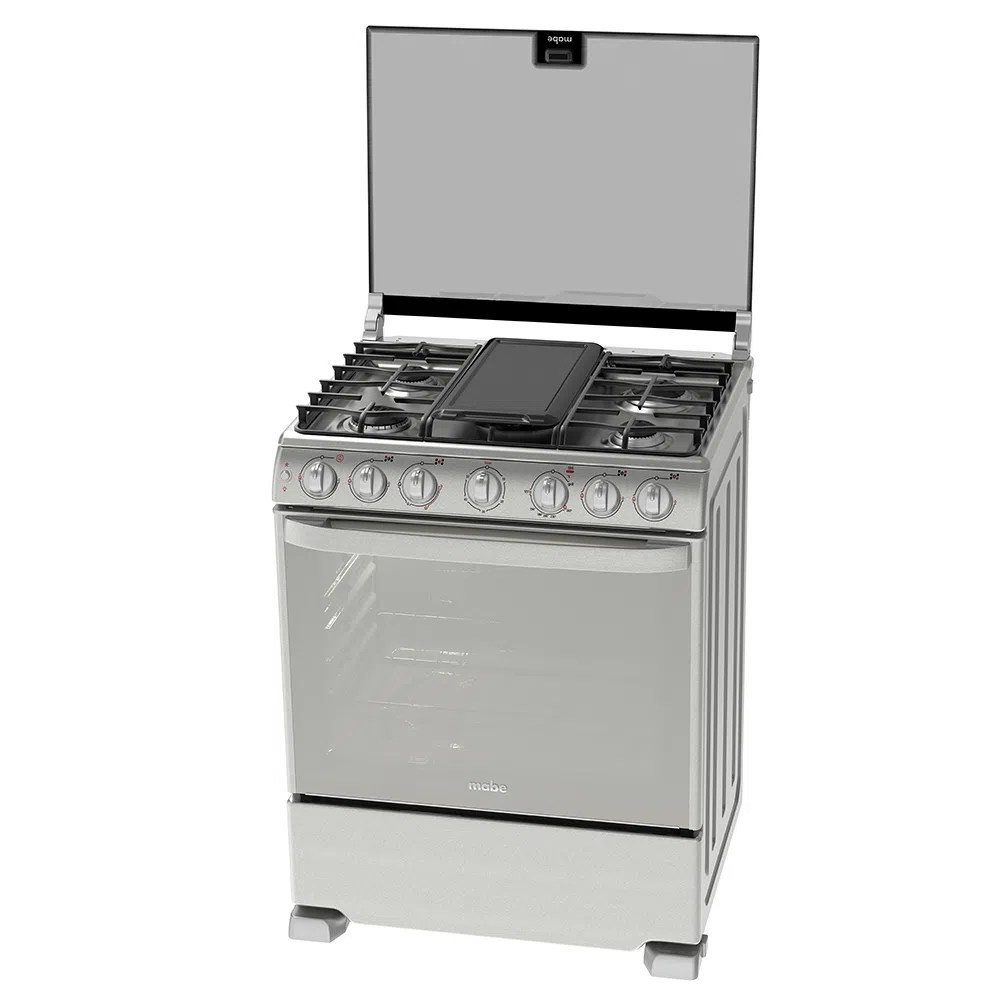 Cocina a Gas MABE COCINA 5 Quemadores EME7688CFYX0 Plateado  PlazaVea