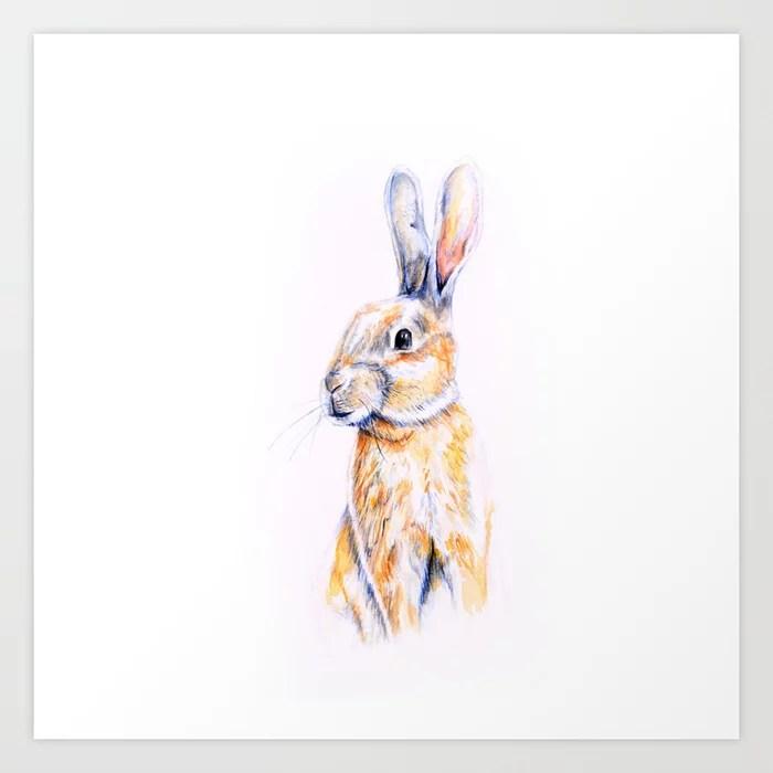 Sunday's Society6 | Rabbit art print