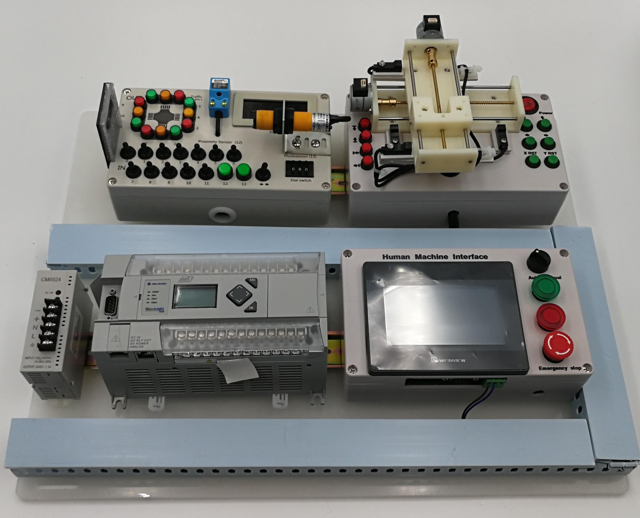 Allen-Bradley Micrologix1400 Digital Position HMI PLC Trainer – PLC-Trainer