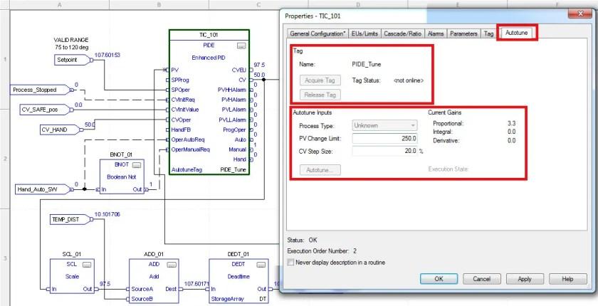 ControlLogix PID Controller Autotune Tab