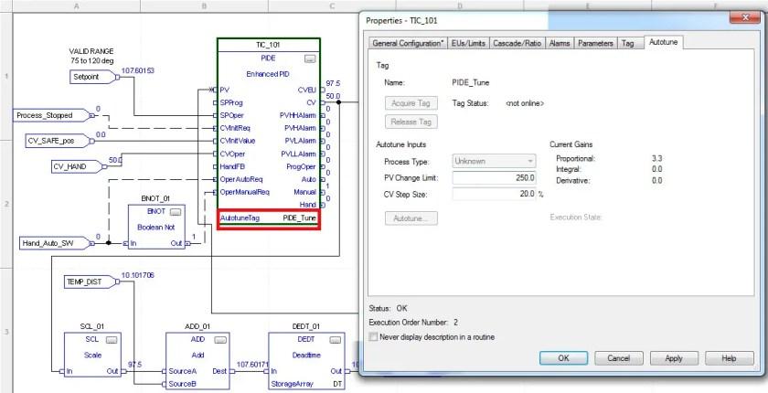 ControlLogix PID Controller Autotune Tag